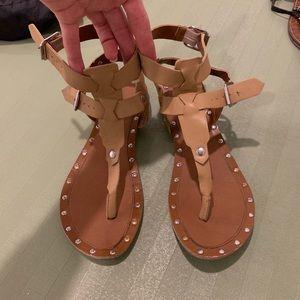 Tan mossimo sandals 9.5